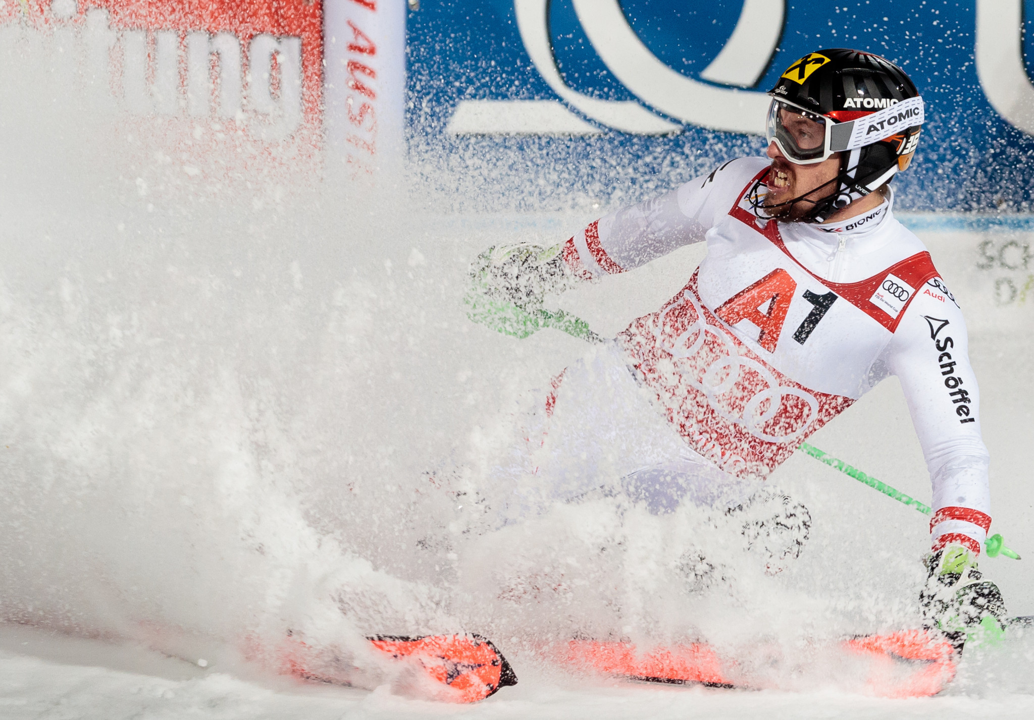 Marcel Hirscher triumphed at the night slalom on home snow ©Getty Images