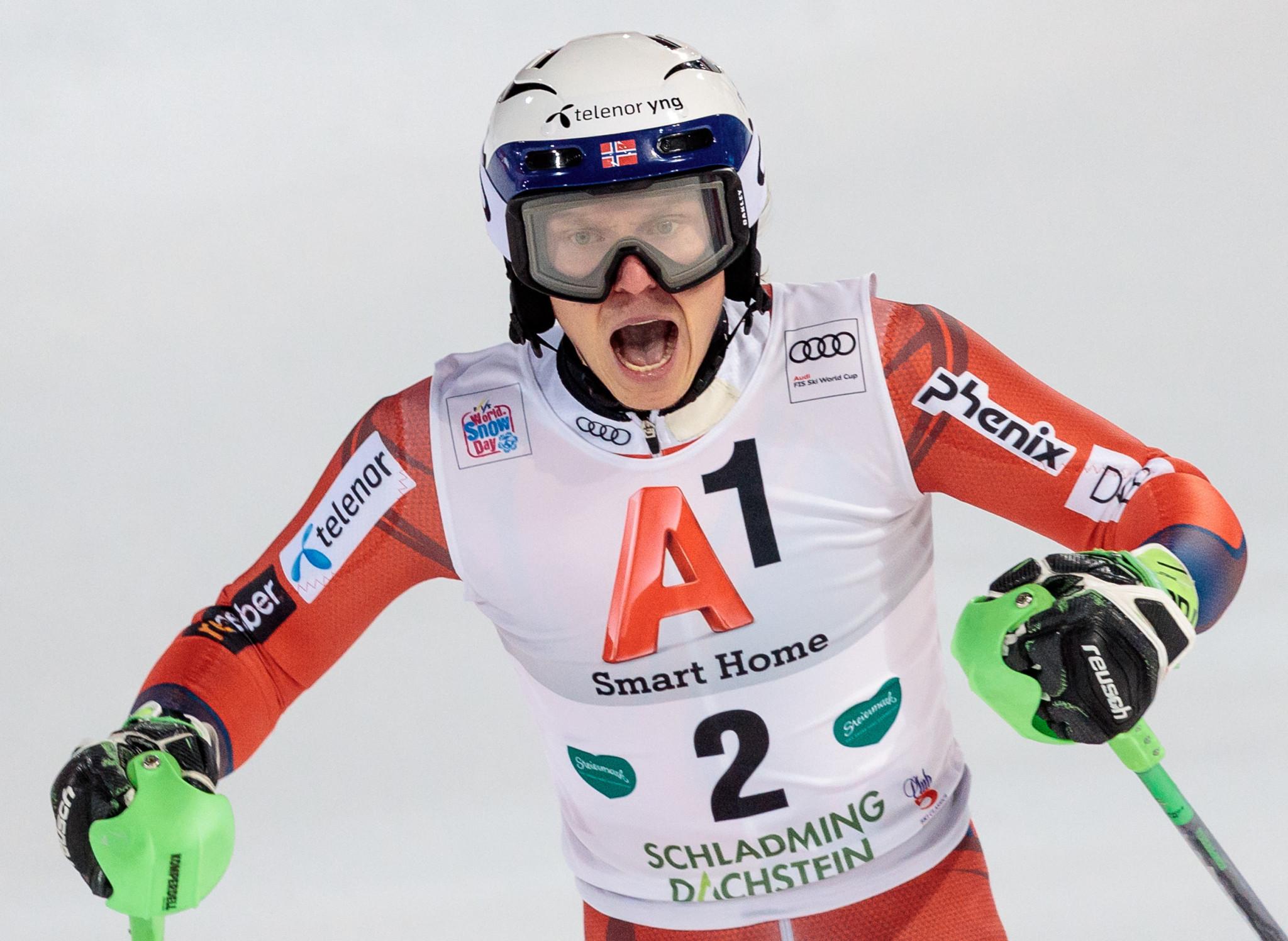 Fans threw snowballs at Norway's Henrik Kristoffersen ©Getty Images