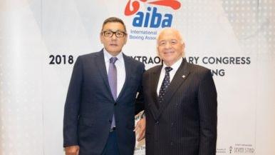Gofur Rakhimov, left, has taken over as interim AIBA President after Franco Falcinelli , right, stepped down ©AIBA