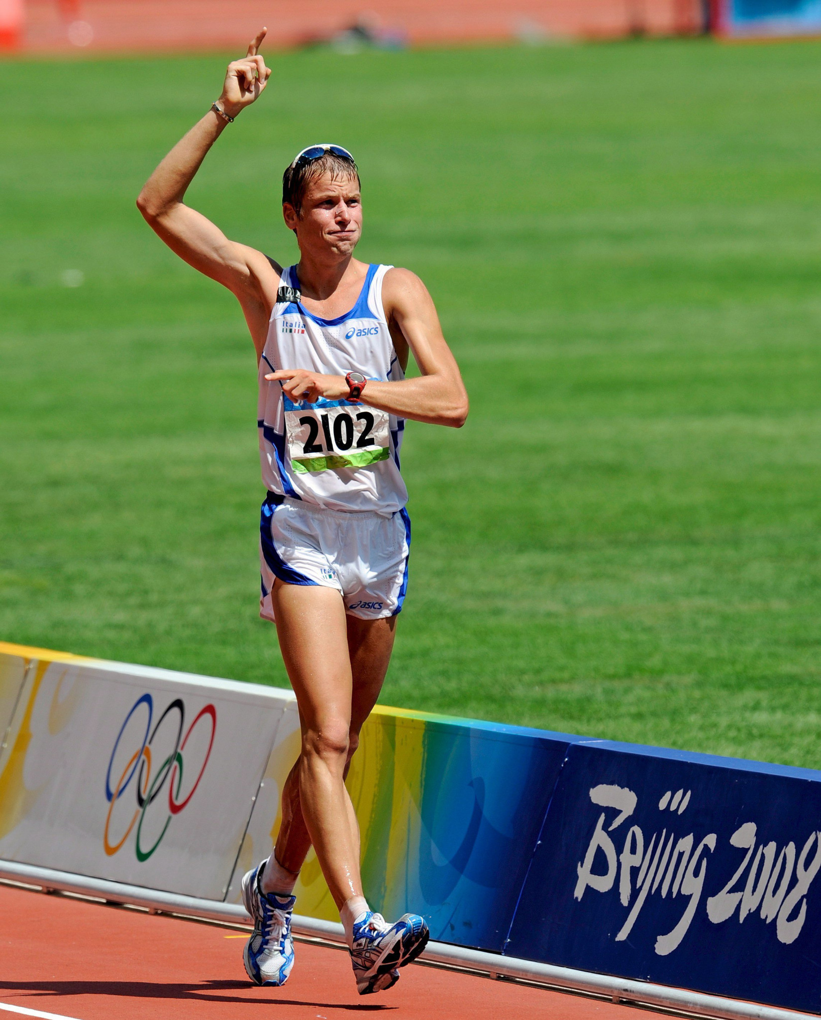 Alex Schwazer won the Olympic gold medal in the 50km race walk at Beijing 2008 but tested positive for banned performance-enhancing drugs on the eve of London 2012 ©Getty Images