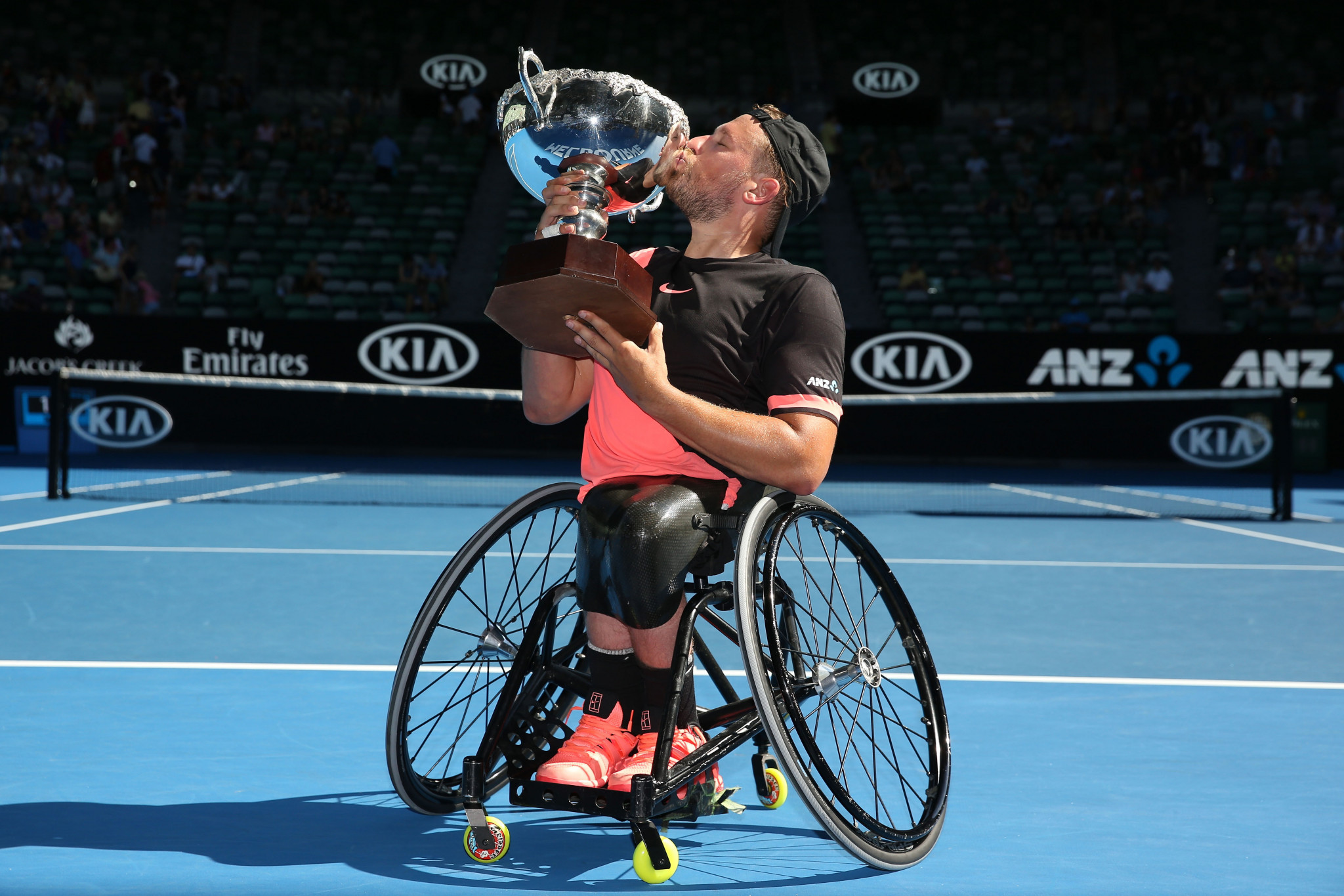 Dylan Alcott won his fourth straight Australian Open quad singles title in January ©Getty Images