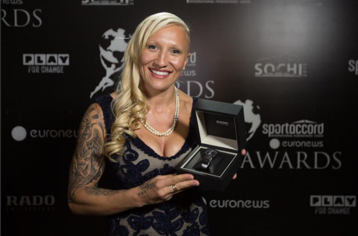 Canadian bobsleigher Kaillie Humphries won the SportAccord Female Athlete of the Year award