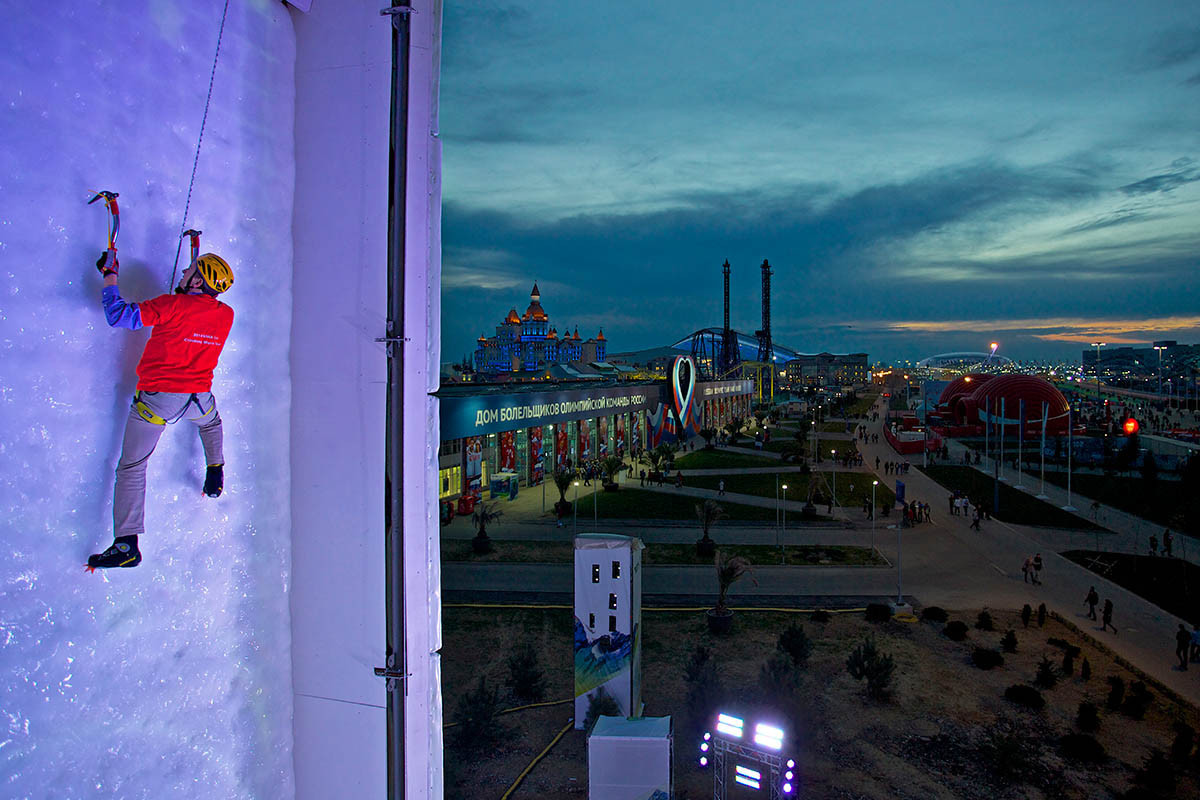Ice climbing is another sport seeking Winter Olympic inclusion ©UIAA