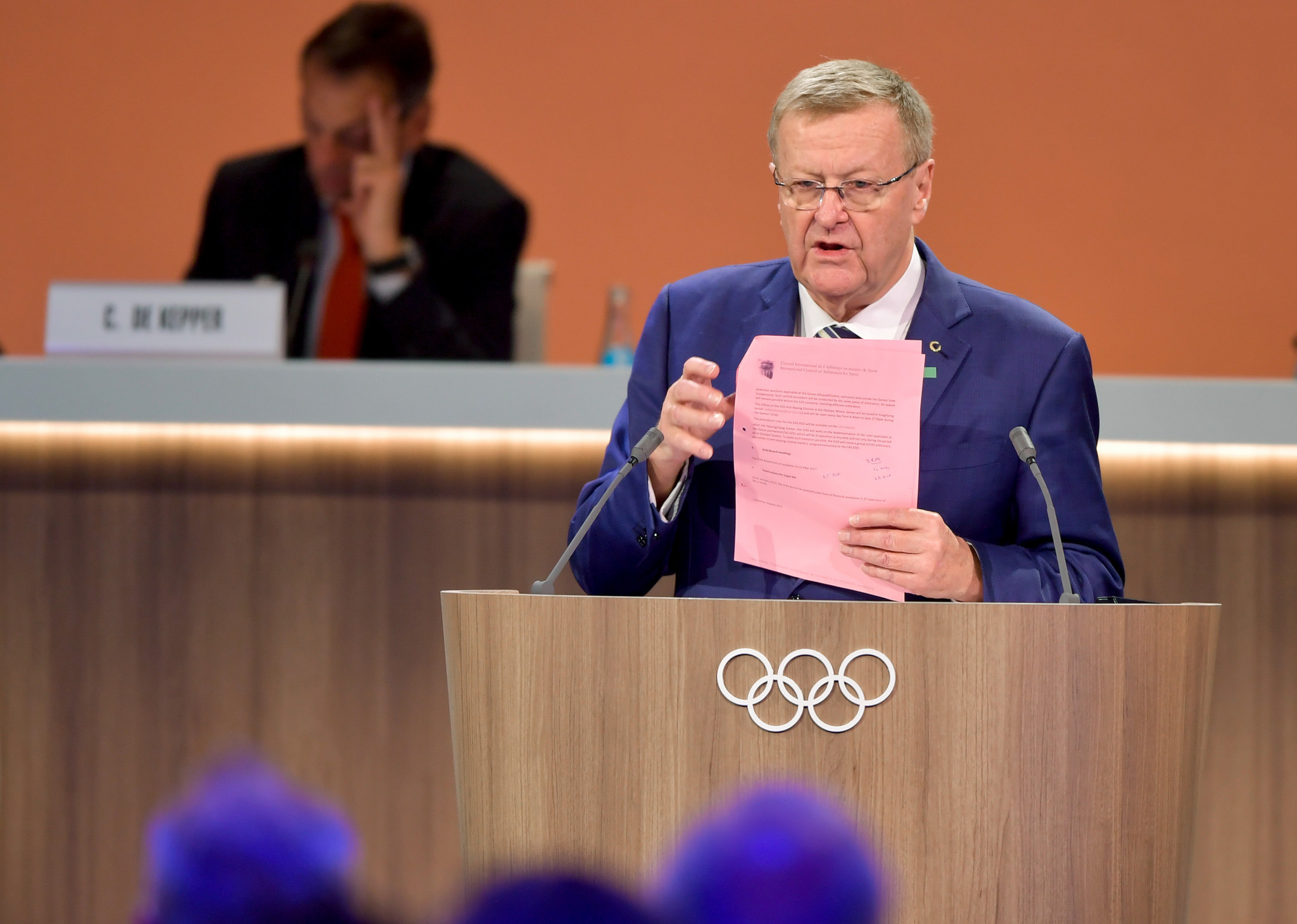 Court of Arbitration for Sport President John Coates was also an IOC vice-president and Executive Board member until he reached the end of his term last year ©Getty Images