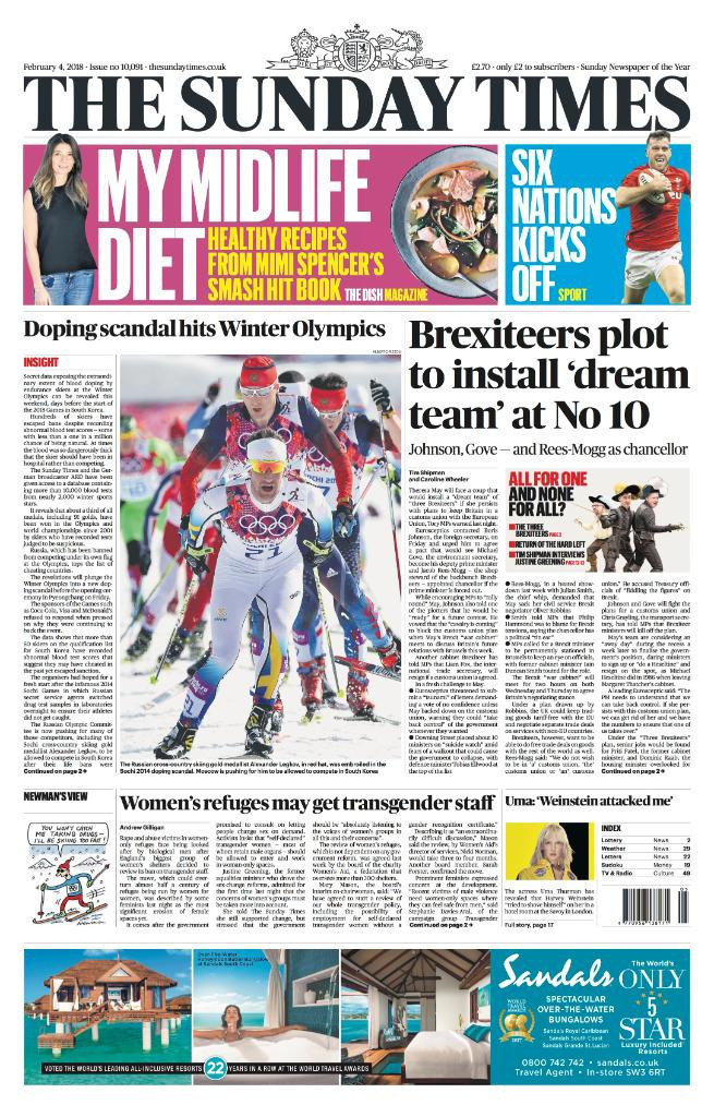 FIS secretary general Sarah Lewis has defended the organisation's anti-doping policy following claims on the front page of The Sunday Times in London today ©Sunday Times