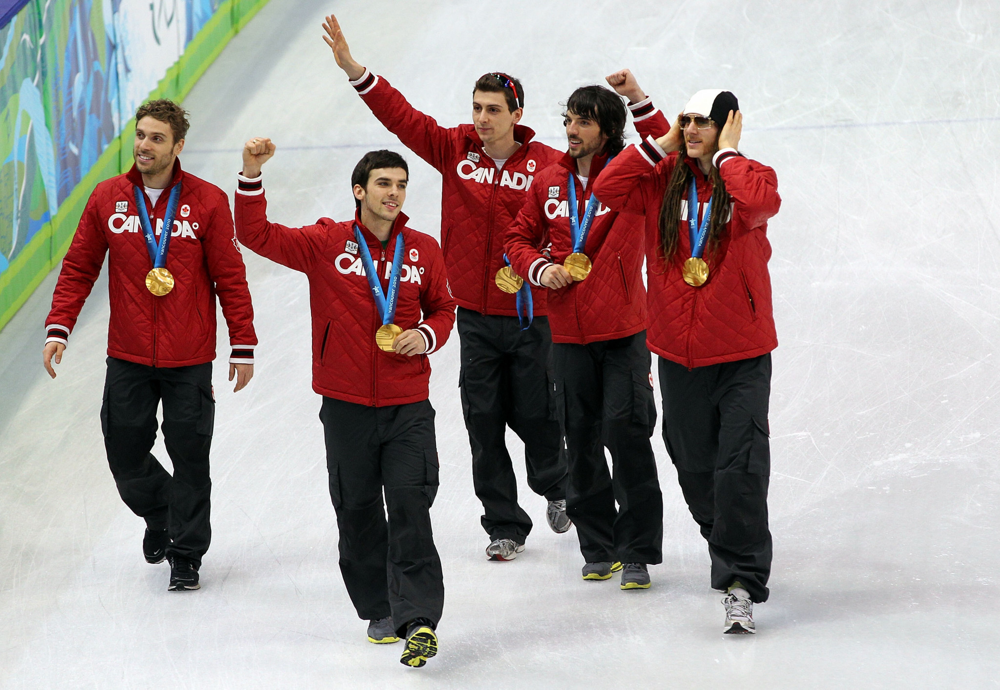 Guillaume Bastille was a member of Canada's 5,000m relay gold medal winning team at Vancouver 2010 ©Getty Images