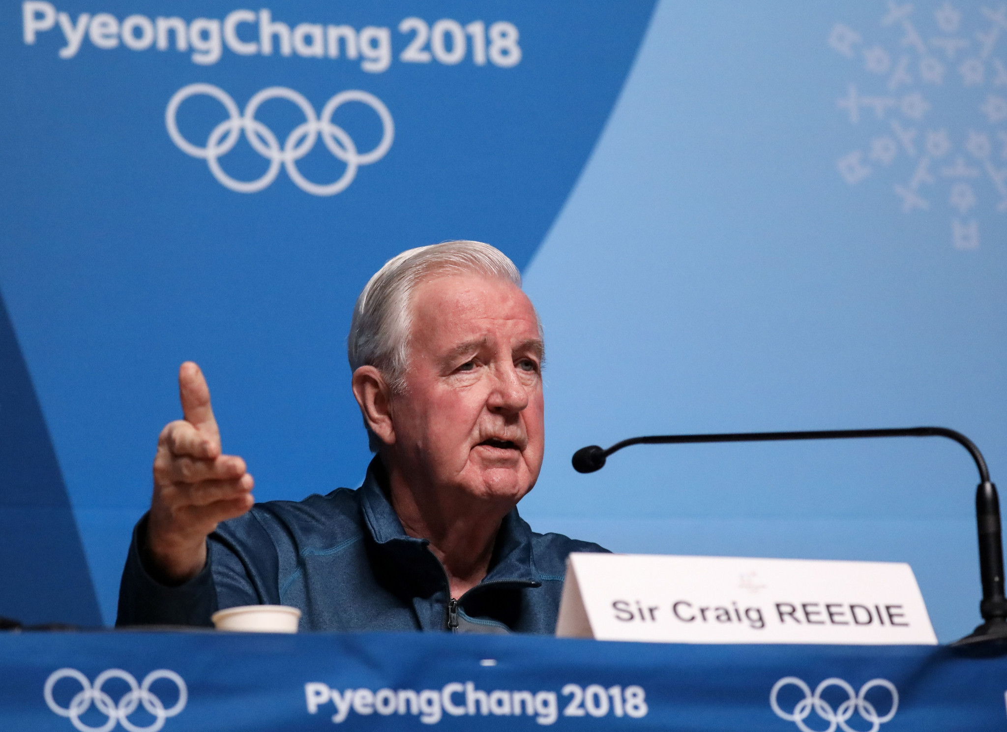 Sir Craig Reedie did not rule out Russia's ban still being in place at Tokyo 2020 ©ITG