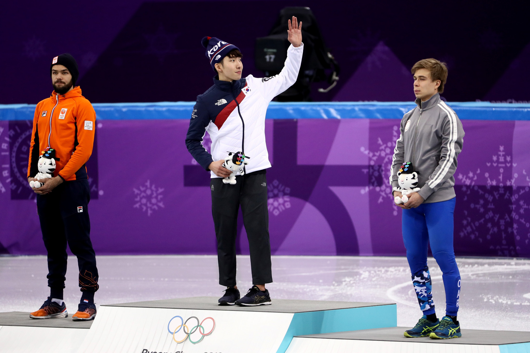 Lim Hyojun claimed hosts South Korea's first gold medal of Pyeongchang 2018 this evening ©Getty Images