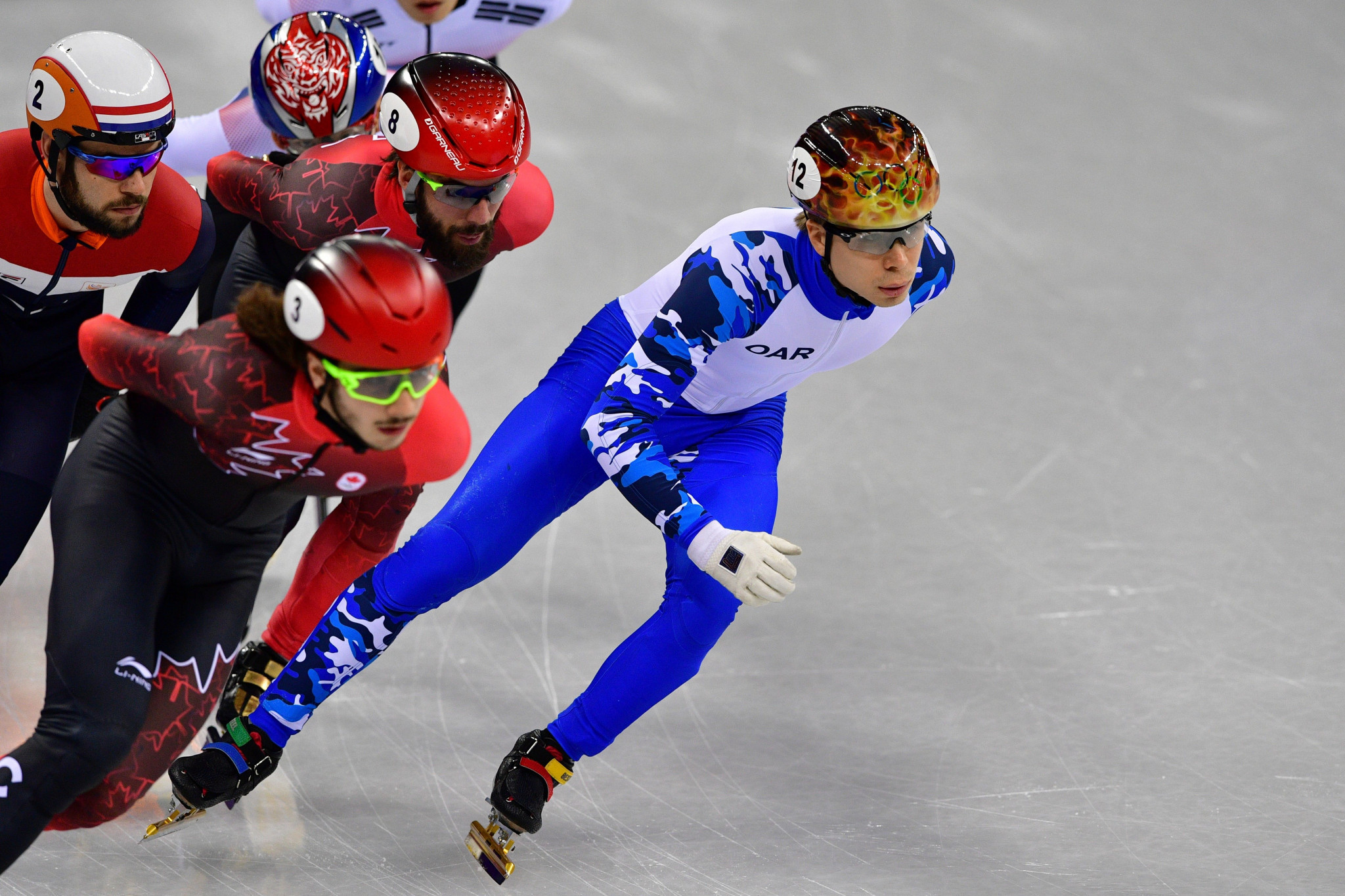 Semen Elistratov won the bronze, the first medal of Pyeongchang 2018 for the Olympic Athletes from Russia team ©Getty Images
