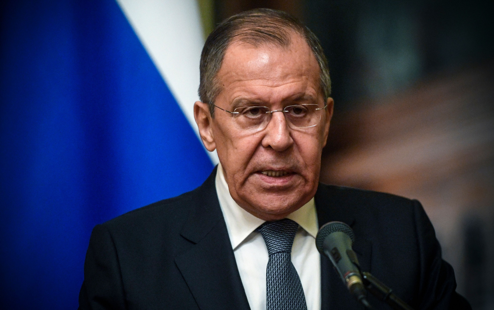 Russian Foreign Minister Sergei Lavrov has accused the United States of fabricating the Russian doping scandal ©Getty Images