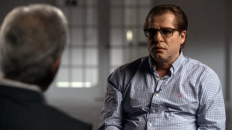 Grigory Rodchenkov recently wore a disguise in an interview with CBS News ©CBS News