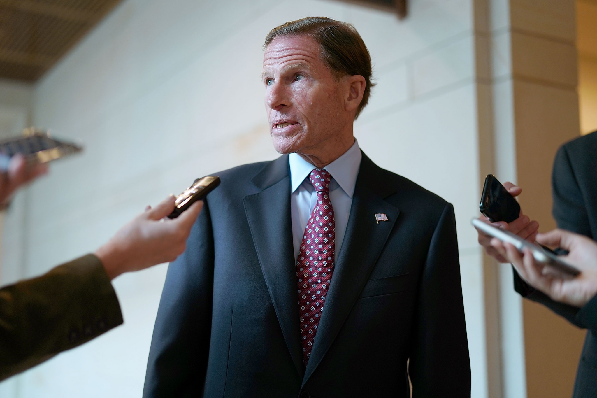 Senators Richard Blumenthal, pictured, and Jerry Moran opened the investigation last month ©Getty Images