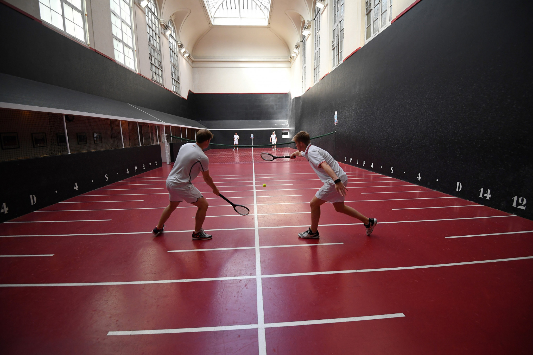 Real tennis at the Salle du Jeu de Paume in Paris - this game, which goes back to medieval times, is seen as the forebear of table tennis or ping pong as it was also called ©Getty Images