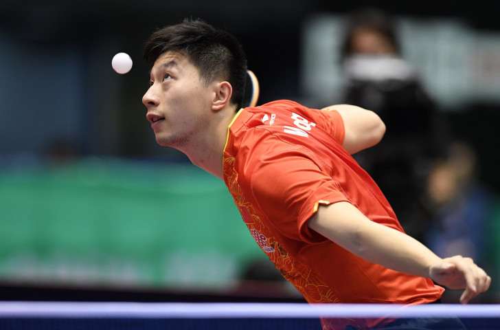 China's reigning individual Olympic champion Ma Long is among those selected for this week's ITTF Team World Cup.event at Copper Box Arena in London ©Getty Images