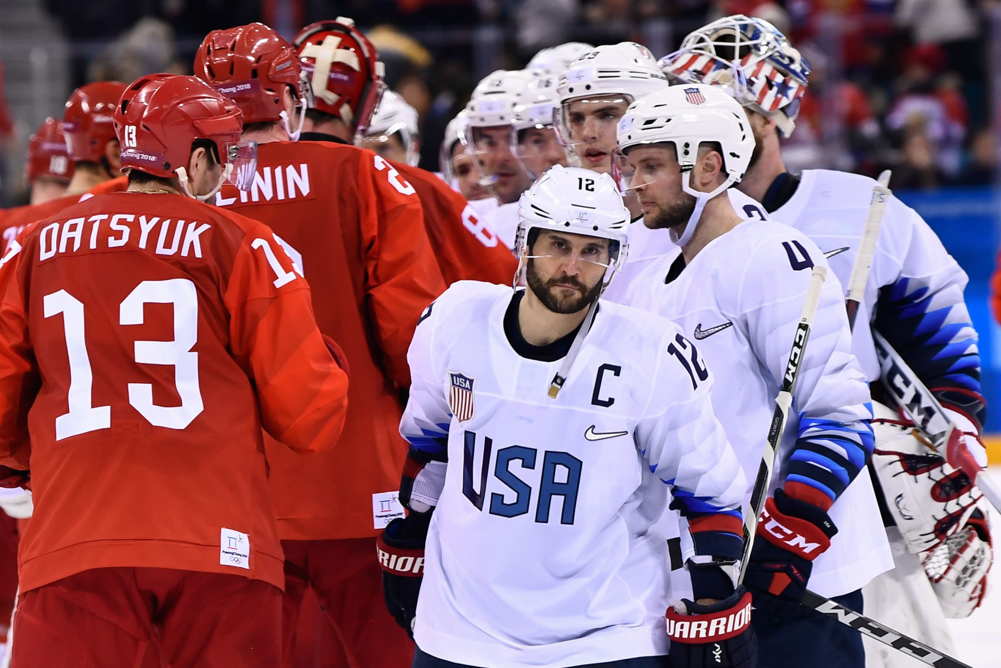USA and OAR players at the end of their encounter ©Getty Images