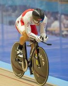 Japan's Tomohiro Fukaya wins the men's 1km time trial at the Asian Track Cycling Championships ©Japanese Cycling Federation