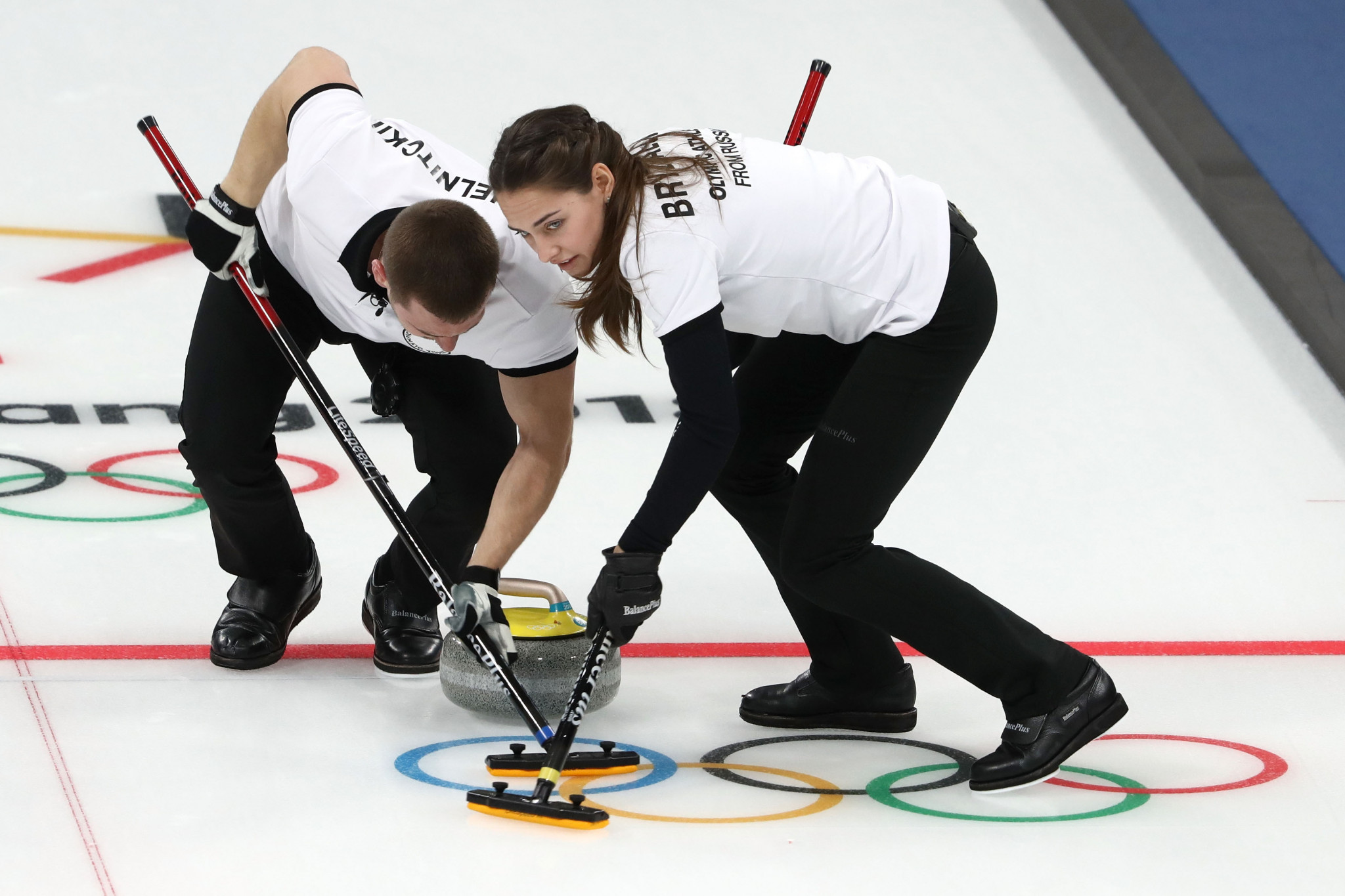 The husband and wife duo pictured competing at Pyeongchang 2018 ©Getty Images