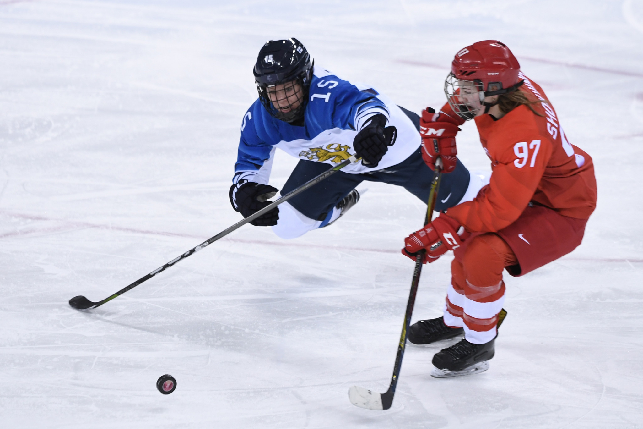 Russian ice hockey player Anna Shokhina has been suspended for two games for a kicking infraction in the Pyeongchang 2018 women's bronze medal game ©Getty Images