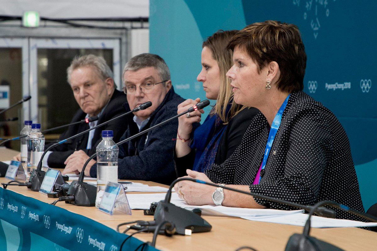 Olympic Athletes from Russia Implementation Group chair Nicole Hoevertsz, right, has urged International Federations to follow the example of the IOC and take action against Russia over doping accusations ©Twitter