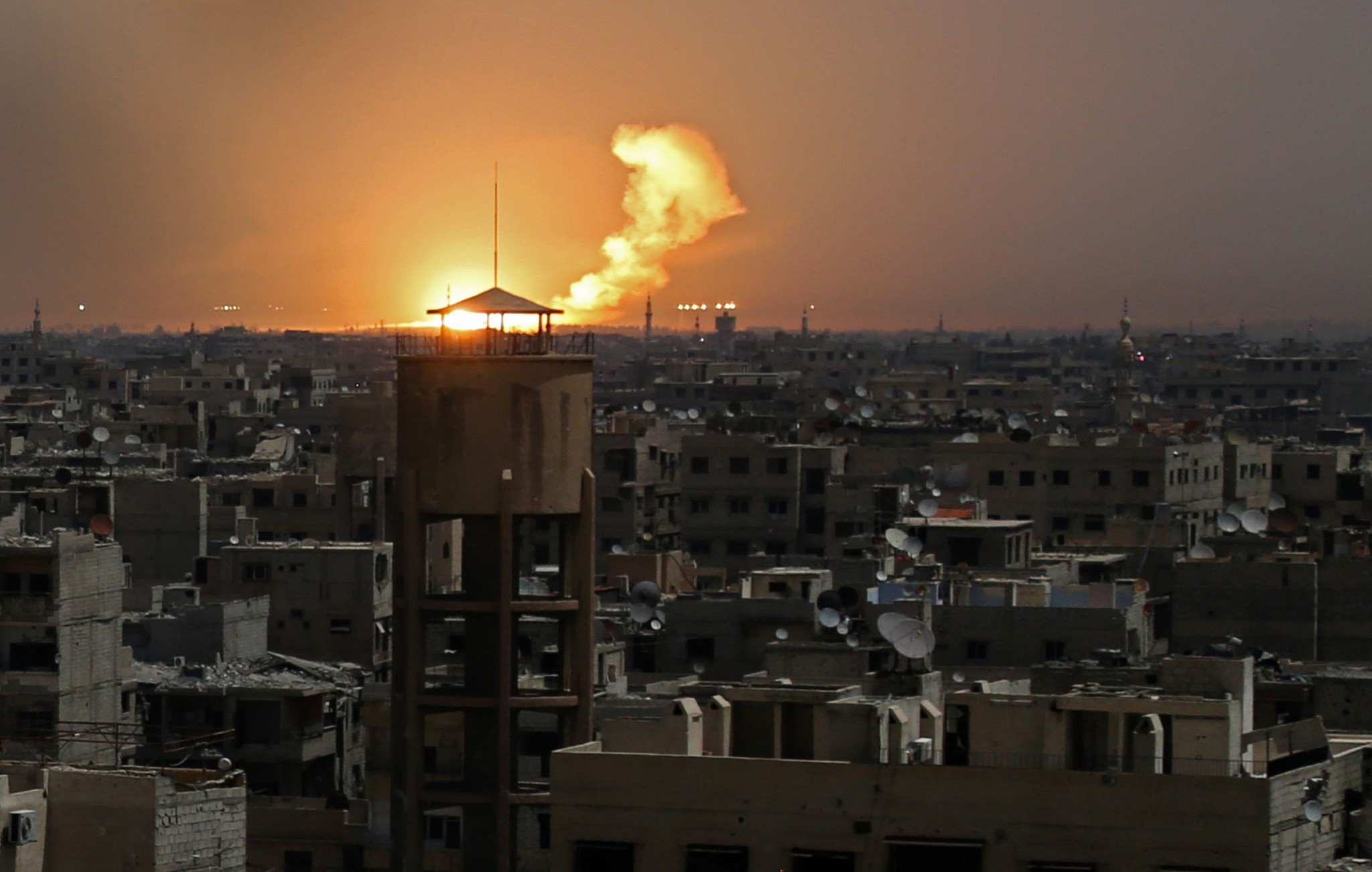 The Olympic Truce did not reach eastern Ghouta in Syria ©Getty Images