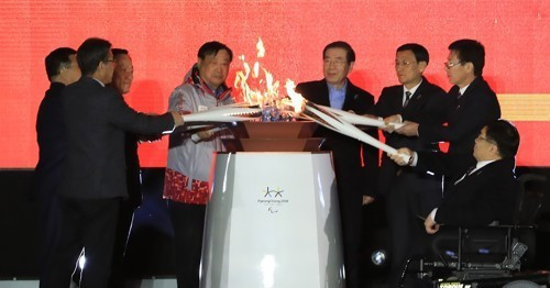 Eight flames were unified into a single flame for the Winter Paralympic Games in Pyeongchang during a special ceremony in Seoul tonight ©Pyeongchang 2018