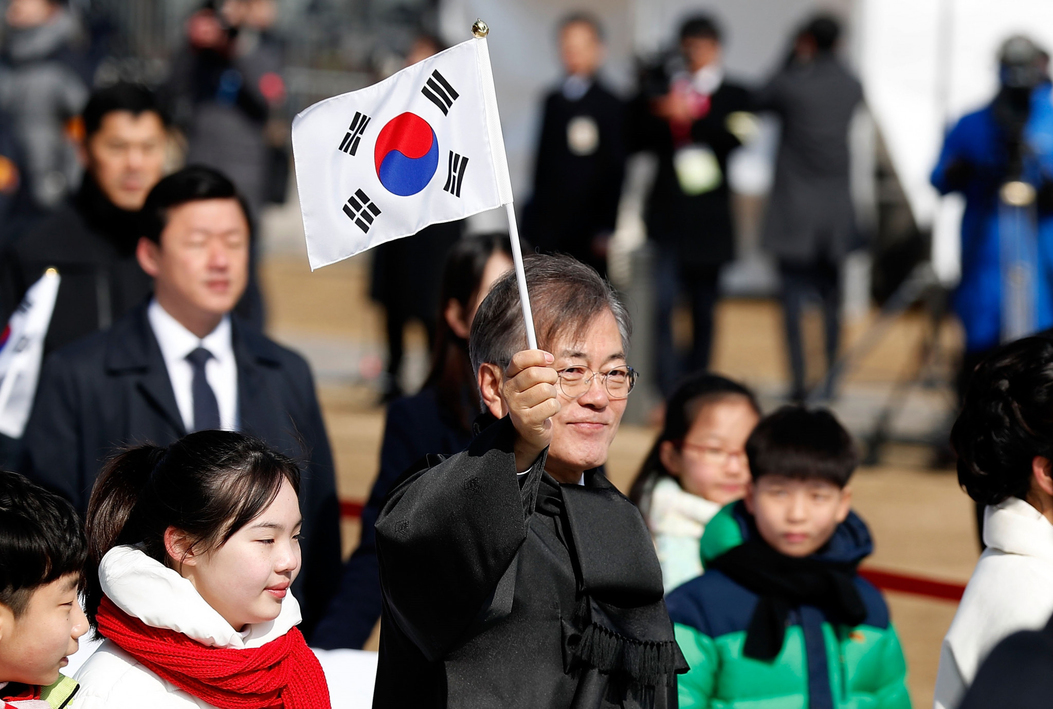 South Korean President Moon Jae-in was among those in attendance at the unveiling of the country's team for the Pyeongchang 2018 Winter Paralympics ©Getty Images