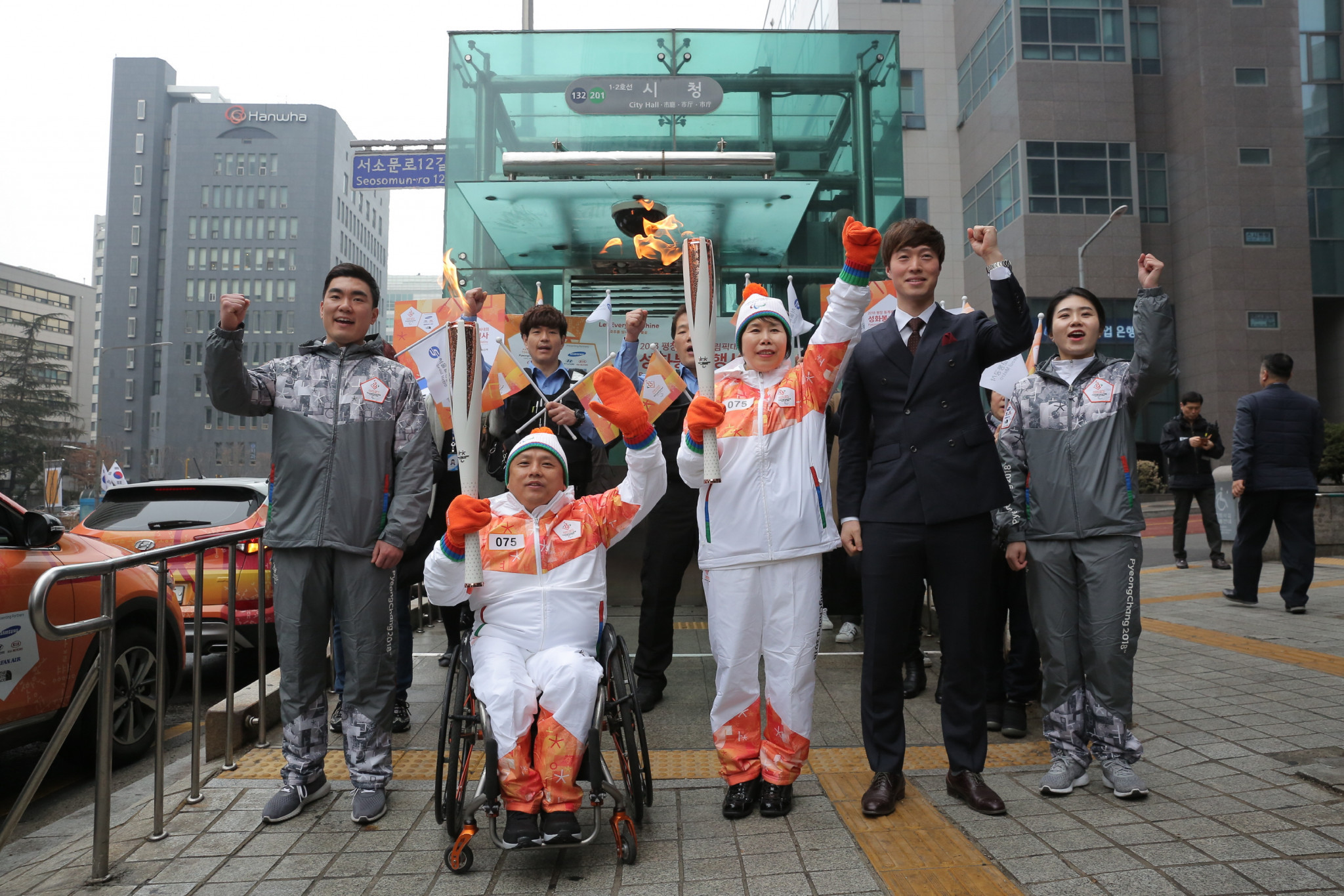 The Paralympic flame is currently making its way to Pyeongchang ©Pyeongchang 2018